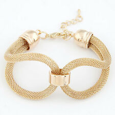 Neu Damen Wrap Cuff Bangle Silber Charm Gold Armband Chain Lot Schmuck Geschenk