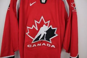Nike Team Canada 1998 Olympic Hockey Jersey Trevor Linden Autograph Adult Large