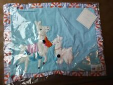 Pottery Barn kid Llama mom baby pillow cover Sham bed room blue pink holiday new