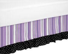 Sweet Jojo Designs Purple Black Kaylee Girl Kid Queen Size Bedding Set Bed Skirt