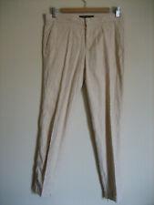 Pantalon Zara woman motif ton sur ton nude/beige T:38 (T:S grand)