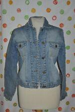 FORENZA Chic blue Denim 100% Cotton JEAN JACKET Womens size Medium EUC