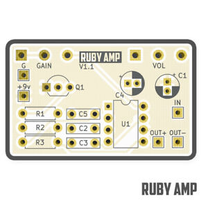 Ruby Amp PCB – Build your own guitar Amplifier - Five Cats Pedals