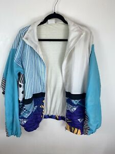 Vintage 80s/90s 44/46 Multi Print Shell Suit Track Jacket