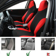 Universal Car Front 2 Seats Cover Sports Style Polyester Fabric with 3 mm Foam