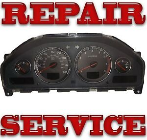 2002 2003 2004  Volvo s60 v70 s80 xc90 Instrument Cluster Repair Service