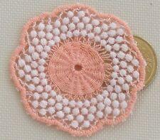 1:12 Scale Mixed Pink Crochet Table Doily 4.5cm Tumdee Dolls House Miniature LA