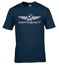 Аэрофлот Aeroflot T Shirt Vintage Russia CCCP USSR Soviet Airlines Distressed
