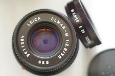 Leica Elmar-M 50mm f2.8 Collapsible lens, black with hood and case