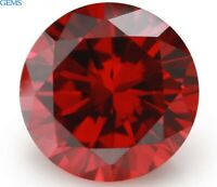 10mm 5.99ct Unheated Red Natural Ruby Diamonds Cut Round AAAAA VVS Loose Gems