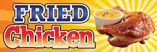 2ft x 6ft Fried Chicken  Vinyl Banner 2'x6'  -Alt to Banner Flag  (189)
