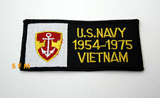 US NAVY VIETNAM SERVICE TAB HAT PATCH VETERAN PIN UP OFFICER CHIEF SAILOR USS