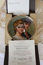 Knowles Plate - Rockwell's Rediscovered Women - Meeting on the Path - COA
