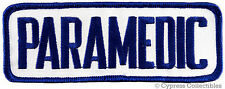PARAMEDIC SLEEVE PATCH Star of Life Ambulance EMT/EMS EMBROIDERED IRON-ON RESCUE