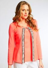 Misook Olga Coral Sparkle Jacket and Shell Twinset XL