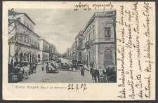 Brazil Postcard Porto Alegre Rua 7 Setembro To Italy 1907 L@@K