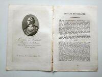 1817 Ortolani, Ritratto/Bio di Cecilio di Caronia/Calacte, prof. Retorica, Roma
