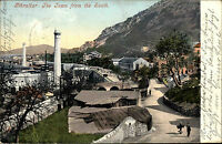 Gibraltar Litho-AK Postcard 1904 Panorama General View Town Stadt Häuser House