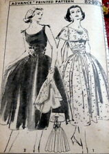 *LOVELY VTG 1950s DRESS & CAPE ADVANCE Sewing Pattern 16/34 FF