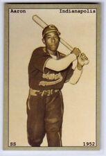 Hank Aaron, '52 Indianapolis Clowns Negro League - chocolate bubble gum card