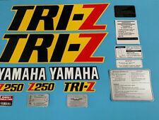 YAMAHA TRI-Z250 1985 YELLOW MODEL FENDER SHROUD DECAL GRAPHIC SET(#Y36)