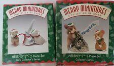 New ListingLot Of 2 Merry Miniatures Hersheys #1 & #2 1997 & 1998