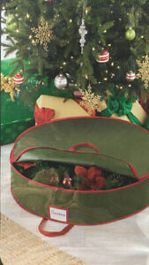 """Whitmor Heavy-Duty Christmas Wreath Bag Holds Up To 30"""" New"""