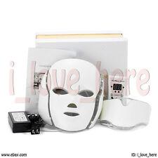 7 Colors PDT LED Light Photon Face Neck Mask Rejuvenation Skin Therapy Wrinkles