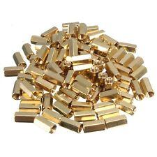 100Pc M3 10mm Hexagonal Net Nut Female Brass Standoff Spacer PCB Board #M1956 QL