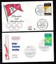 Briefmarken mit Motiven von Olympischen Spielen aus Satz und Bundesrepublik