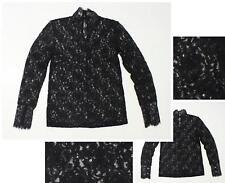 NEW Sample Jennifer Lopez Women's Long Sleeve All-Over Lace Blouse Black 2