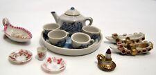LOT 5 OBJETS VITRINE MINIATURES porcelaine verre soufflé SEVRES PARIS XIXe XXe