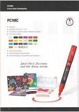 Farbmarker von POSCA PC-1M ideal zum Kolorieren, Dekorieren und Schreiben,