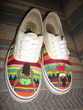 "RARE VANS ""SWAVY Big Bottom Girls Pierced Nipples Dancers Rasta Lace-up Shoes"