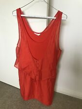 "Women's Sass & Bide ""Tic Tac"" Orange Dress Size 36"