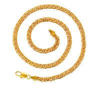 Herren Damen Panzerkette 24 Karat Gold Halskette 999er Gold vergoldet 55 cm Neu