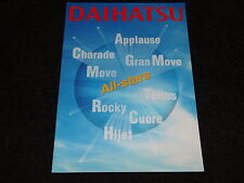 DAIHATSU APPLAUSE, CHARADE, GRAN MOVE, MOVE, TERIOS, ROCKY, CUORE BROCHURE NEW