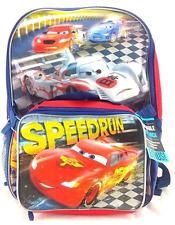de4b9abb456 Disney Cars Movie Lightning McQueen Boys School Backpack Lunch Box Book Bag  Set