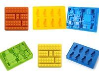 Silicon Chocolate Baking Mold Building Bricks Men Man Robot Figures Mould Lego