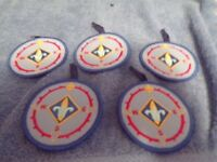 Lot of 5 Webelos Button Patches