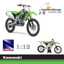 MODELLINO KAWASAKI KX-450F CROSS MOTO 1/12 NEW RAY 18 cm GREEN CLIMBER JUMP MBX