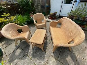 Conservatory 4 Piece Wicker/Bamboo Suite