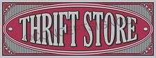 3'x8' THRIFT STORE BANNER Outdoor Sign LARGE Resale Shop Clothing Furniture