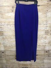 Daymor Couture Formal Long Skirt Electric Royal Blue High Waist Slit Sz 6
