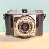 Coronet Viscount Model II - 1961 828 Film Camera in Working Order With Film!