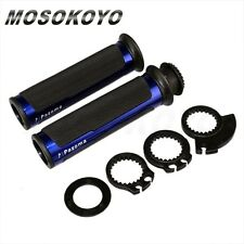 """CNC Aluminum Rubber Gel Hand Grips + 3Cams For 7/8"""" Handle Bar Dirt Bike Bicycle"""