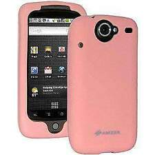 AMZER Silicone Skin Jelly Case Cover For Google Nexus One PB99100 - Baby Pink