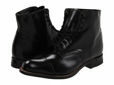 Men's Shoe Stacy Adams Madison Leather Lace Up Boot 00015-01 Black *New*