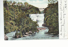 Main Falls in Ithaca Gorge  Ithaca  NY    Mailed 1908   Postcard 774