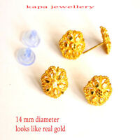 22ct Gold Designer Stud Sleeper Earring Indian Asain gold design earrings